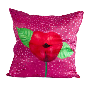 KISS ME LIPS Silk Pillowcase Accent Decorative Throw Pillow/Cushion