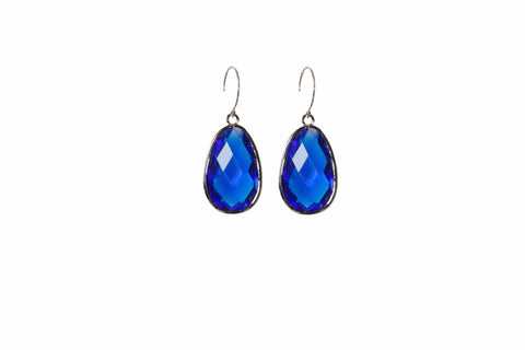 Capri Blue Audrey Earrings in Sterling Silver