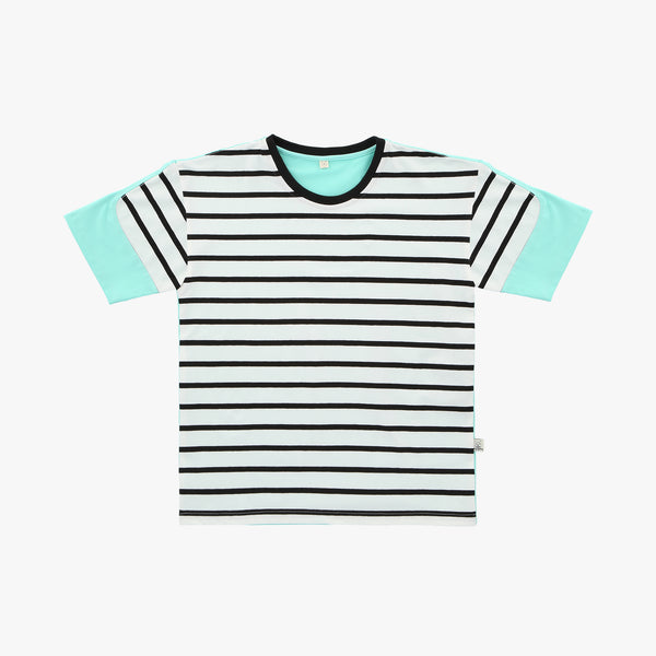 Mint Striped Colorblock Tshirt - Human - opdsg