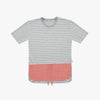 Pink Linen Grey Striped Tshirt - Human - opdsg