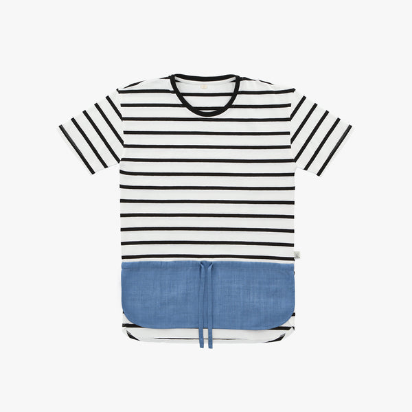 Blue Linen Striped Tshirt - Human - opdsg