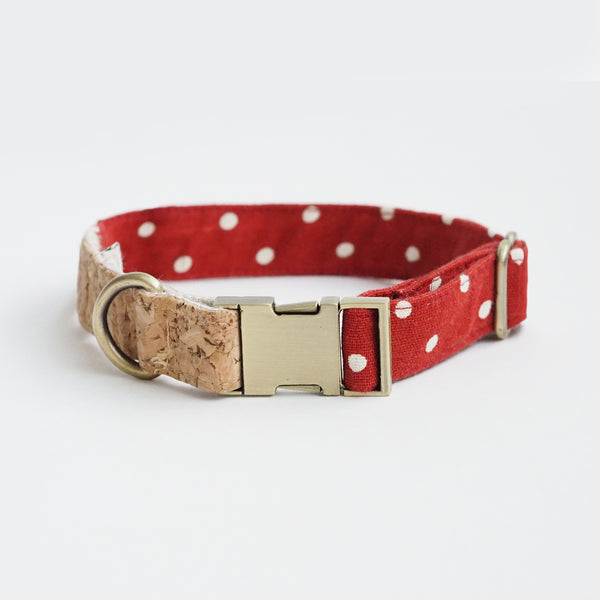 Polka Dot Corkboard Collar, Dog Collar, Ohpopdog