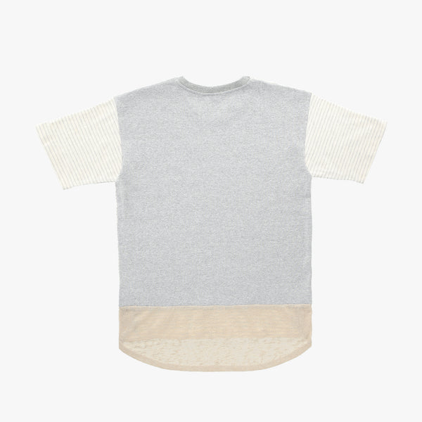 Striped Grey Beige Tshirt - Human - opdsg