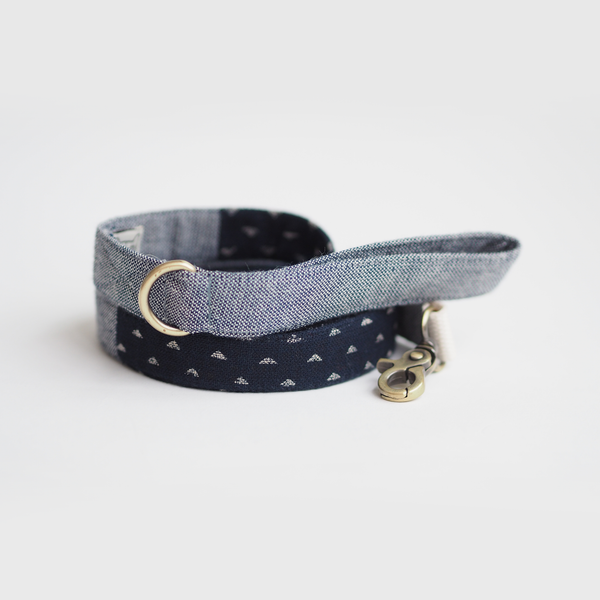 Indigo Denim Mix Basic Leash - Leash - opdsg