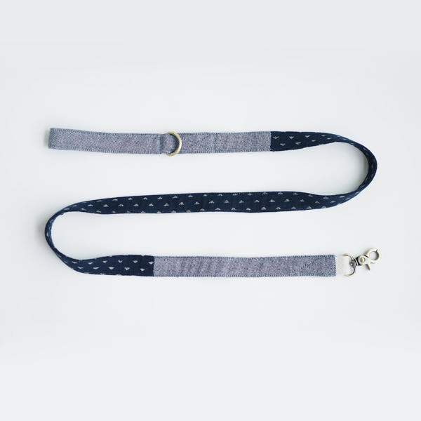 Indigo Denim Mix Basic Leash - Ohpopdog