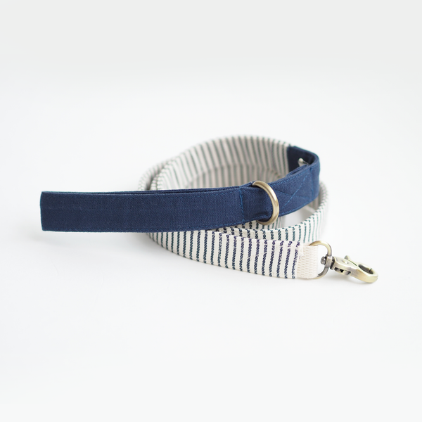 Nautical Blue Striped Basic Leash - Leash - opdsg