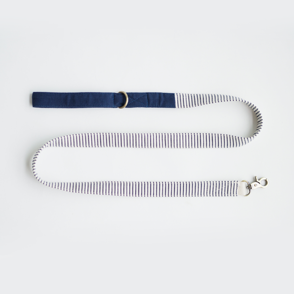Nautical Blue Striped Basic Leash - Ohpopdog