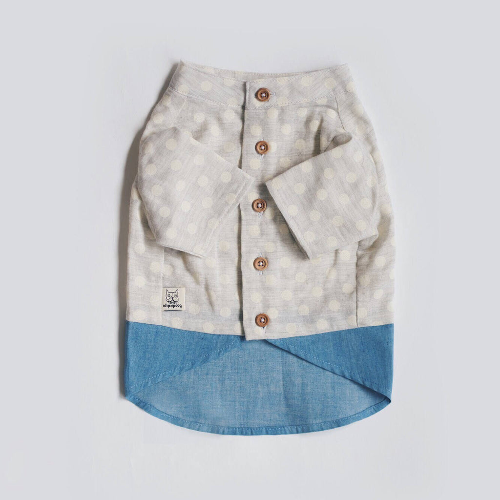 Polka Dot Soft Denim Shirt - Shirt - opdsg