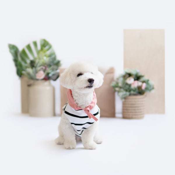 Pink Linen Striped Hoodie - Ohpopdog