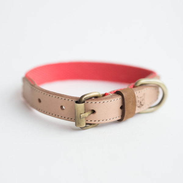 Salmon Hemp Leather Collar - Collar - opdsg
