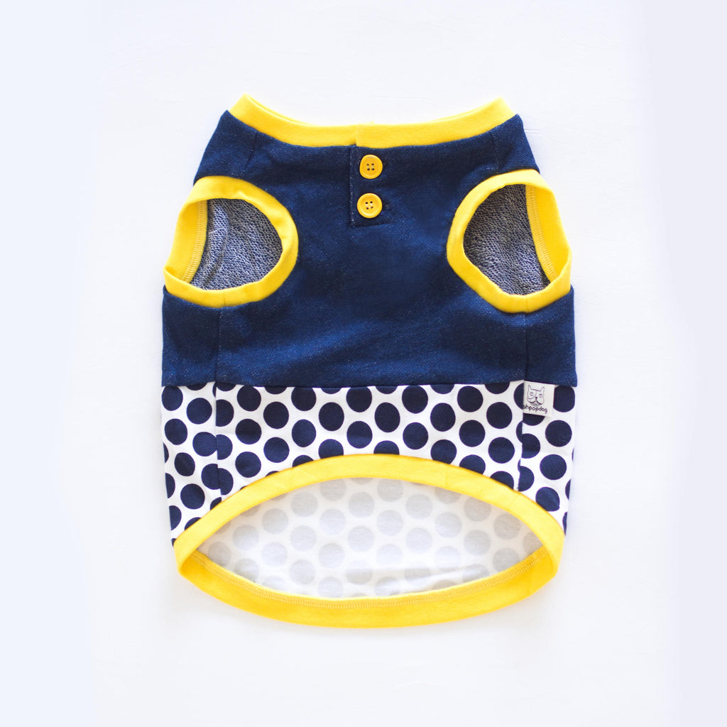 Yellow Denim Polka Dot Tank - Tank - opdsg
