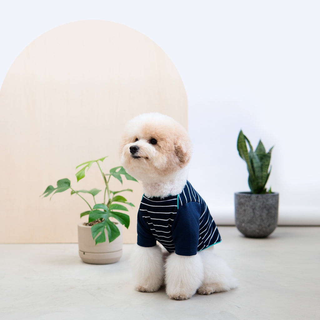 Snug-in Navy Striped Jammies - Tshirt - opdsg