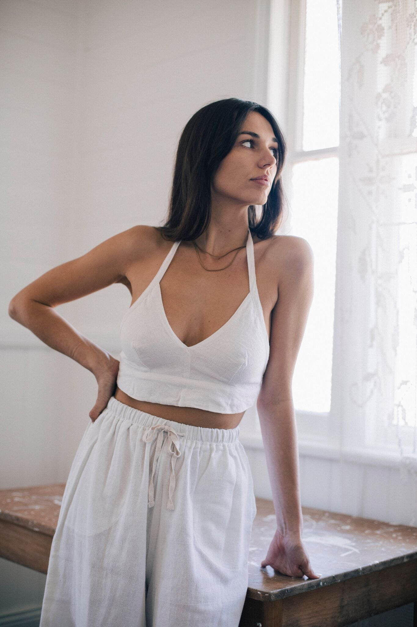 Honey Halter White