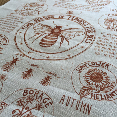 Tea Towel - Flowers for Honey Bees
