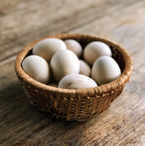 Wooden Egg Set