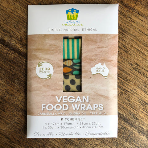 Vegan Food Wraps 4pk