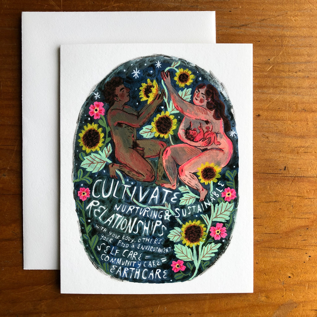 Phoebe Wahl - Cultivate Nurturing and Sustainable Relationships - card