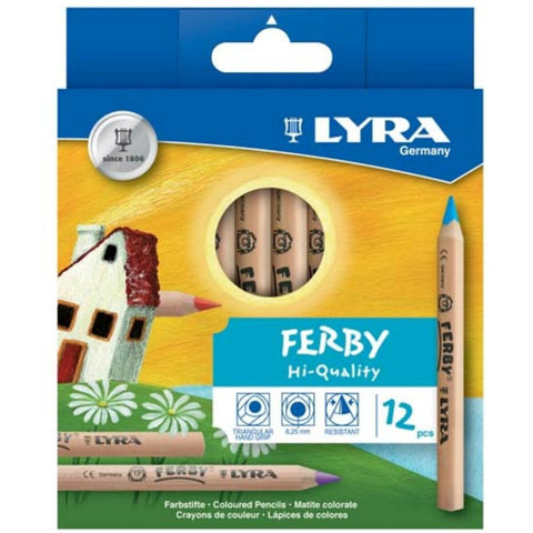 Lyra Ferby Colour Pencils - 12-pack triangular