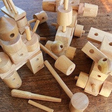 Natural Wood Construction Set