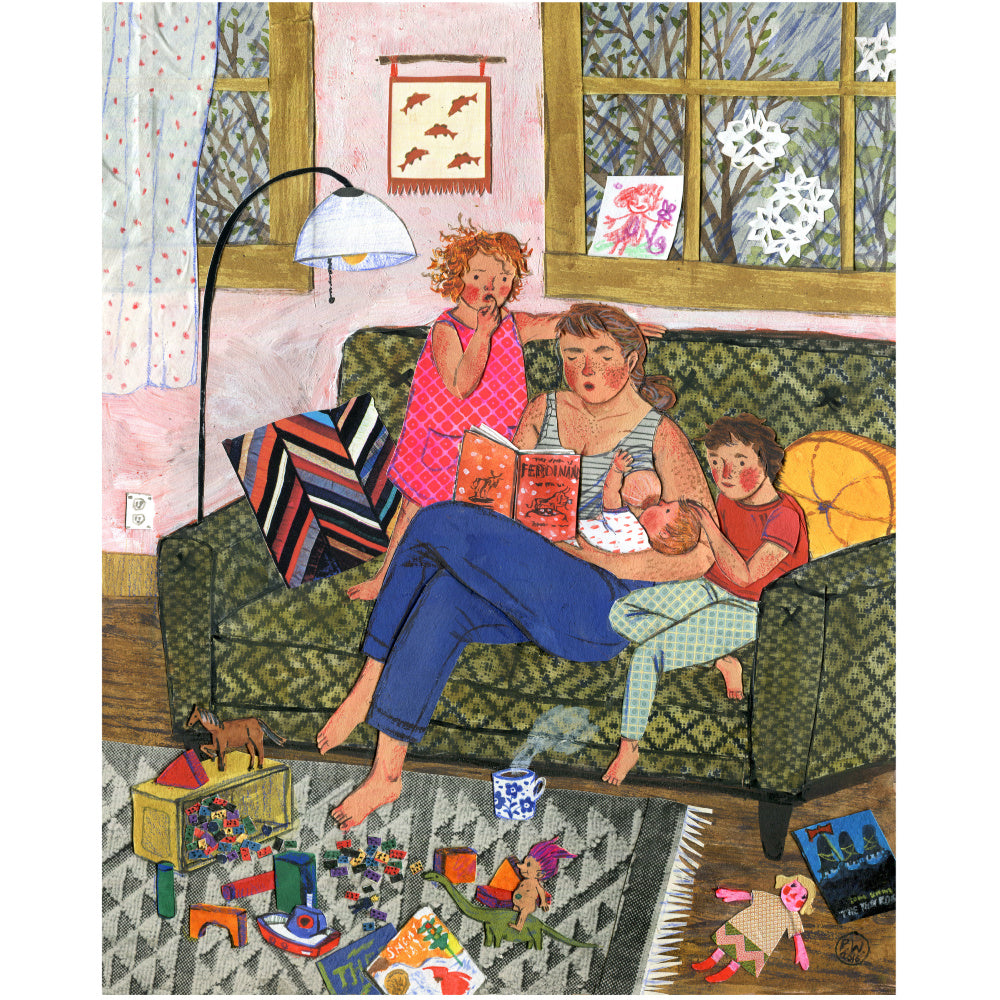 Phoebe Wahl - Rainy Day Reading - Art Print