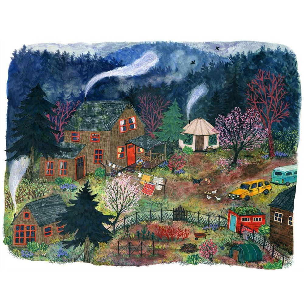 Phoebe Wahl Art Print - The First Warm Spring Day