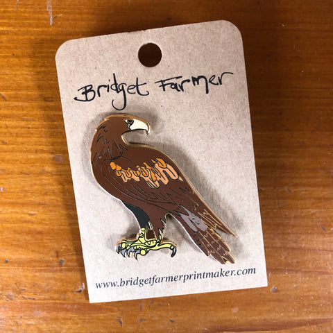Wedge tailed eagle enamel pin