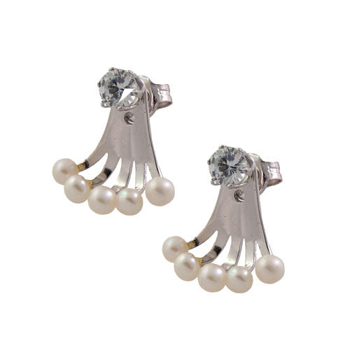 Diamond Stud & Pearl Earrings Jackets