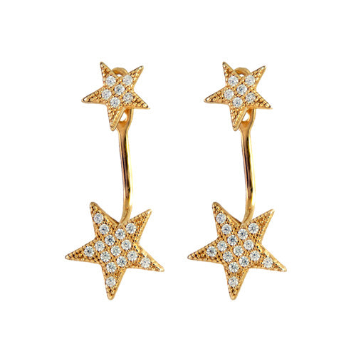 Double Star Earring Jackets