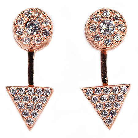 Triangle Pavé Earring Jacket -  Emma Winston -  - 2