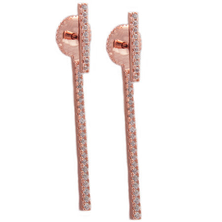 Micro Pavé Bar Earring Jacket