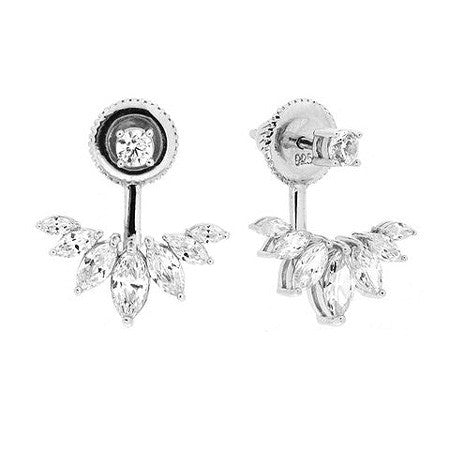Round Stud and Marquise Earring Jacket -  Emma Winston -  - 1
