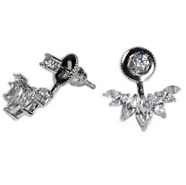 Round Stud and Marquise Earring Jacket -  Emma Winston -  - 3