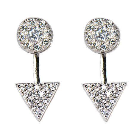 Triangle Pavé Earring Jacket -  Emma Winston -  - 3