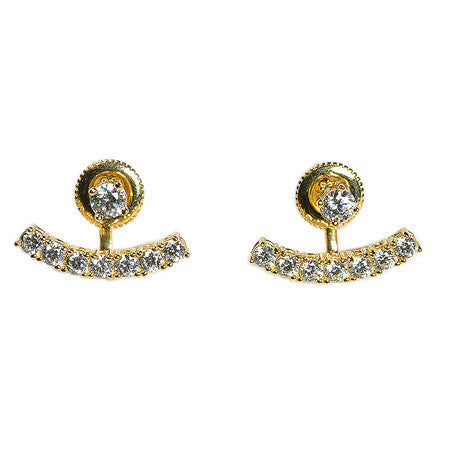 Crescent Earring Jacket -  Emma Winston - Yellow Gold - 5