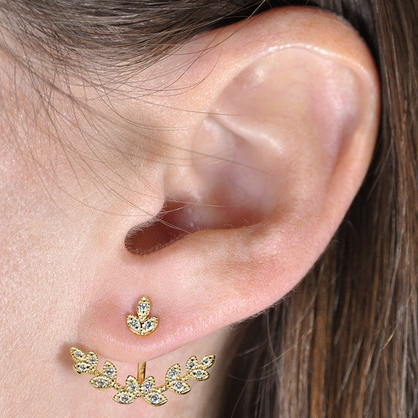 Leaf Earring Jacket -  Emma Winston -  - 3