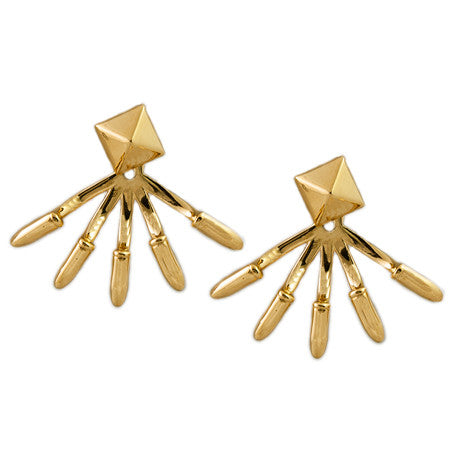 Pyramid Five Spike Earring Jacket