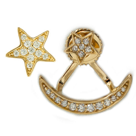 Star & Moon Earring Jacket
