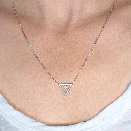 Triangular Pavé Necklace -  Emma Winston -  - 3