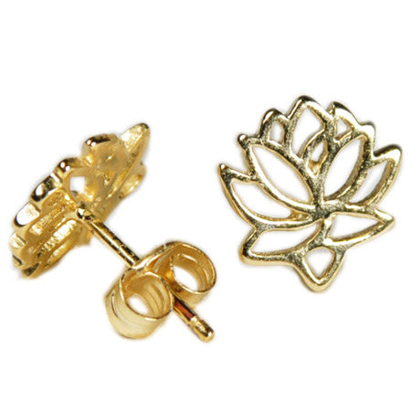 Lotus Studs -  Emma Winston - Yellow Gold - 7