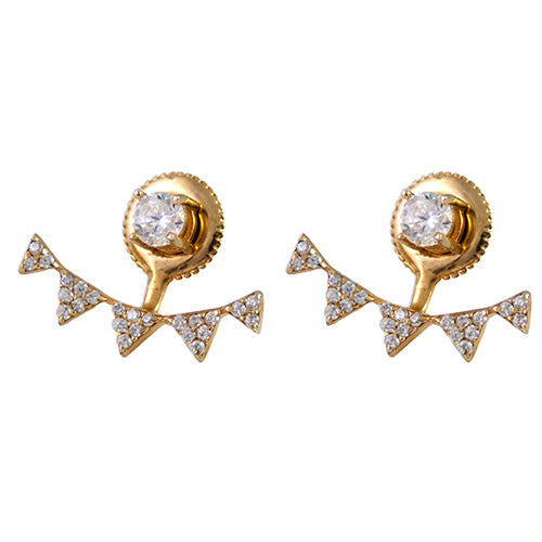 gold and diamond stud earring jackets