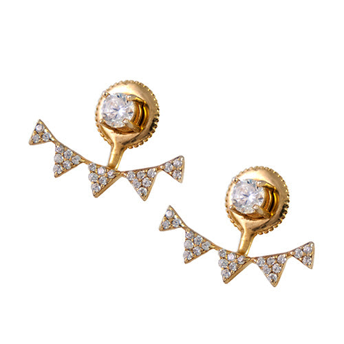 triangular pave earring jackets