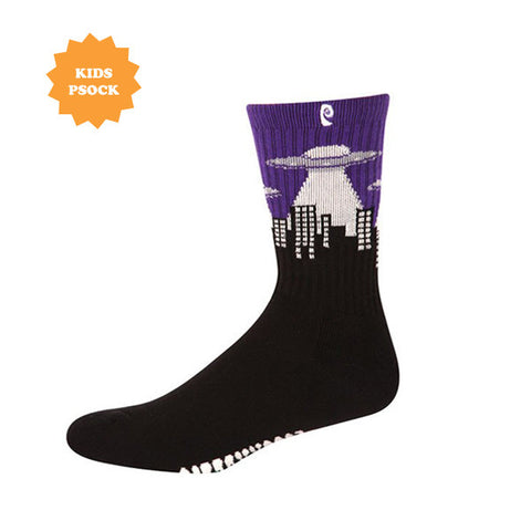 UFO KIDS PSOCK BLACK/PURPLE