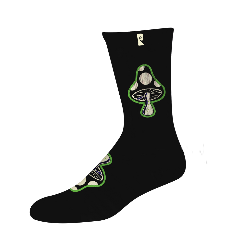 MUSHROOM 3 PSOCK - BLACK *GLOW IN THE DARK*