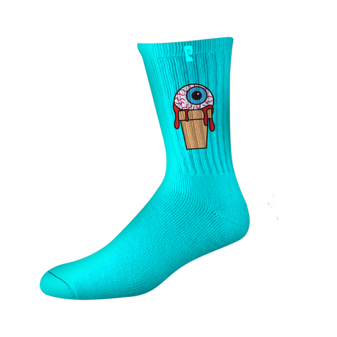 EYE SCREAM PSOCKS - TEAL/BLACK