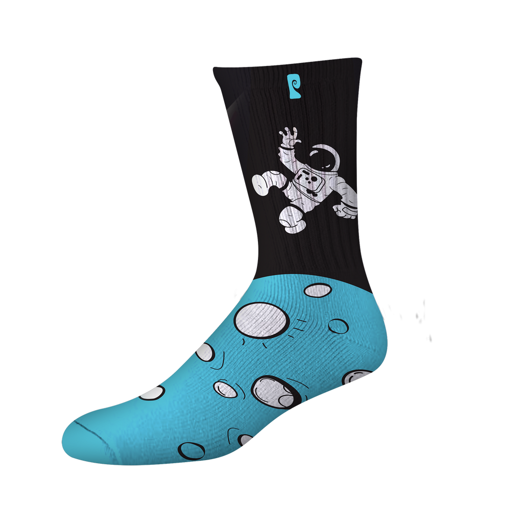 MOUSE SPACED OUT PSOCK - BLACK/BLUE