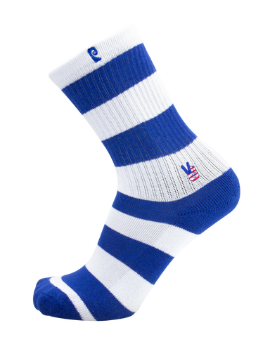 Peace Blu/Wht Stripe Psocks