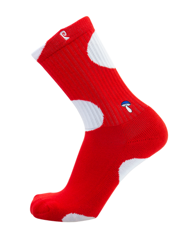 Shroom Red/Wht Psocks