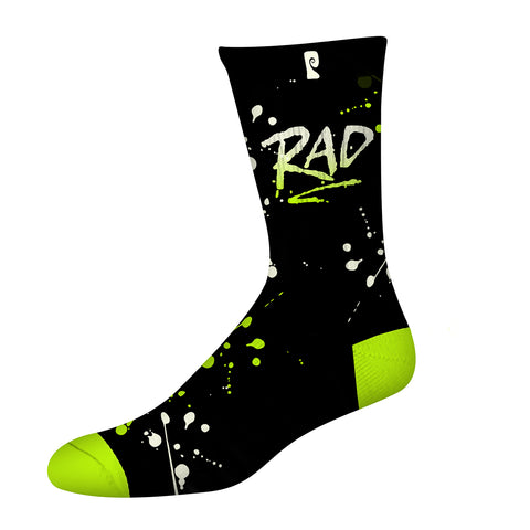 RAD PSOCK - BLACK/LIME *GLOW IN THE DARK*