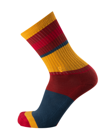 STRIPED PSOCK BLUE/BROWN/YELLOW