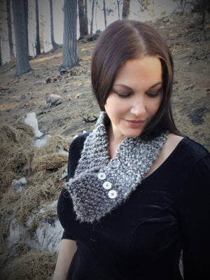 "The ""Winter Frost"" Hand Knit Infinity Scarf"